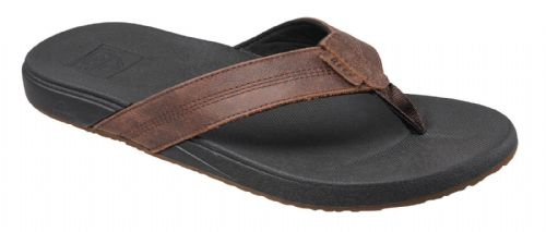 REEF MENS FLIP FLOPS.CUSHION BOUNCE LEATHER PHANTOMS LE ARCH SUPPORT THONGS 8S F